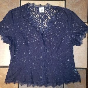 CAbi Tops - Cabi London Calling Lace Blouse